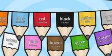 Colours on Pencil Bunting Polish Translation