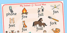 Initial f Sound Mat