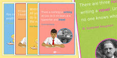 Writing Quotation Posters for KS3