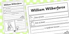 William Wilberforce Significant Individual Writing Frame