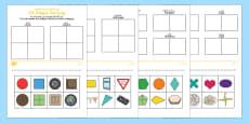 2D Shape Sorting Activity Sheet Arabic/English
