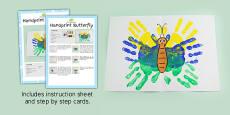 Handprint Butterfly Craft Instructions