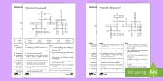 KS3 Materials Crossword