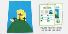 Easter Morning Handprint Craft Instructions