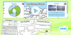 PlanIt - Geography Year 1 - Wonderful Weather Lesson 6: Our Frozen Planet Lesson Pack