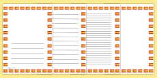 Spanish Flag Page Borders