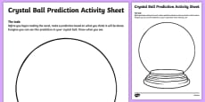 Crystal Ball Prediction Activity Sheet Pack