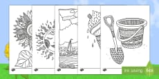 Summer Mindfulness Colouring Pages English/Mandarin Chinese