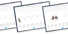 Australia - Babushka Pencil Control Sheets