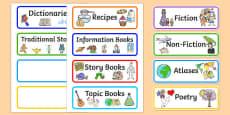 Book Corner Labels