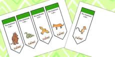 The Gruffalo Editable Bookmarks