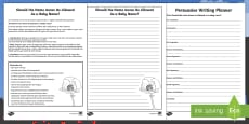 Anzac As a Baby Name Persuasive Writing Activity Sheet