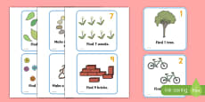 Outdoor Maths Trail Cards
