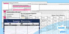 PlanIt - Science Year 6 - Electricity Unit Assessment Pack