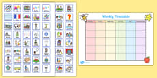 Weekly Planner with Cards Visual Timetable