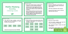 Year 6 Maths Mastery Rounding Challenge Cards