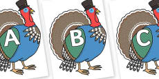 A-Z Alphabet on Turkey Lurky