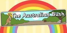 Australian Bush Habitat Display Banner