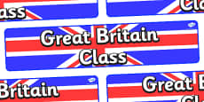 Great Britain Themed Classroom Display Banner