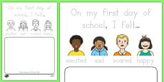 Back to School Feelings Activity Sheet