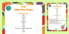Fruit Edible Paint Recipe to Support Teaching on The Very Hungry Caterpillar