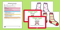 EYFS Sock Sort Finger Gym Plan And Prompt Card Pack