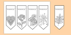 Adult Colouring Mindfulness Bookmarks