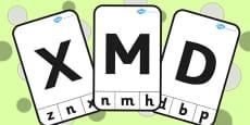 Capital Letter Recognition Peg Activity