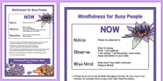 Mindfulness for Busy People - an Exercise