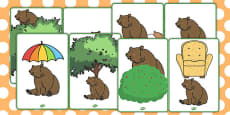 Where Is the Bear? Picture Cards