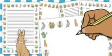 The Tale of Peter Rabbit Page Borders