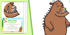 Sensory Activity To Support The Teaching On The Gruffalo Busy Bag Prompt Card and Resource Pack