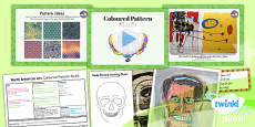 Art: North American Art: Coloured Pattern Skulls UKS2 Lesson Pack 5