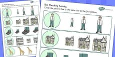 Giant Themed Size Matching Activity Sheets
