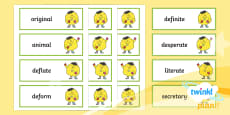 PlanIt Spelling Additional Resources Year 5 Term 3B Word Cards