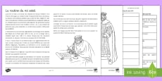 * NEW * The Routine of Louis XIV Differentiated Reading Comprehension Activity French