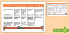 End of Book Summary Tasks Activity Sheet to Support Teaching on Holes