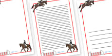 The Olympics Equestrian Page Borders