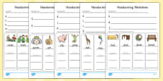 Handwriting Activity Sheets Letter Formation