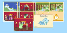 Cinderella Story Sequencing Cards (4 per A4)