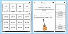 Use Passive Verbs Lesson Ideas and Resource Pack