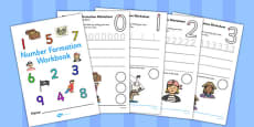 Number Formation Workbook Pirates Romanian Translation