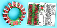 3D Remembrance Day Poppy Wreath