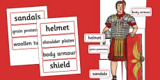Large Roman Soldier Display Cut-Out
