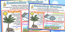 Weather Large Information Poster A2 (Australia)
