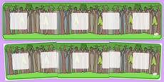 Tree Themed Visual Timetable Display Banner