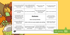 Autumn Home Learning Activities Overview
