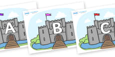 A-Z Alphabet on Castles