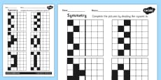 Symmetry Activity Sheet