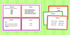 Year 3 Number and Place Value Challenge Cards